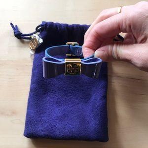 Tory Burch Bow leather bracelet